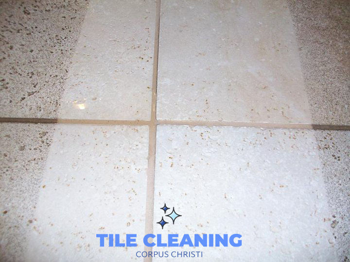 Tile Cleaning Before and After Example