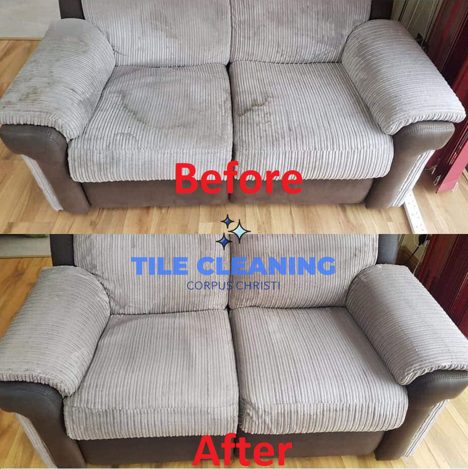 Upholstery Cleaning Before and After - Corpus Christi, Texas